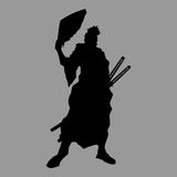 Samurai silhouette Royalty Free Stock Photography