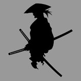 Samurai silhouette Royalty Free Stock Photos