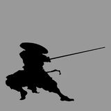 Samurai silhouette Stock Photos