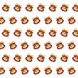 Samurai skull - sticker pattern 40 stock illustration