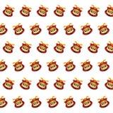 Samurai skull - sticker pattern 02 royalty free illustration