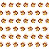 Samurai skull - sticker pattern 03 vector illustration