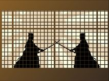 Samurai Standoff Royalty Free Stock Image
