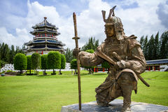 Samurai statue in the garden Stock Photography