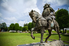 Samurai statue in the garden Stock Images