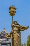 Samurai statue Stock Image