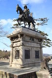 Samurai statue in Sendai Royalty Free Stock Image