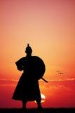 Samurai at sunset Stock Photography