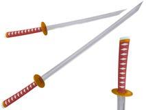 Samurai a sword Stock Image