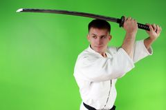 Samurai sword Royalty Free Stock Photos