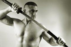 Samurai with a sword Royalty Free Stock Photo