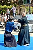 Samurai Sword Demonstration Stock Images