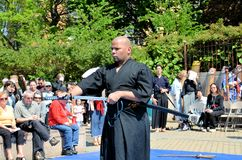 Samurai Sword Demonstration Royalty Free Stock Images