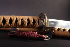Samurai sword detail Royalty Free Stock Images
