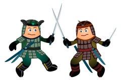 Samurai sword fight Stock Photo