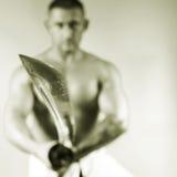 Samurai with a sword Stock Photo