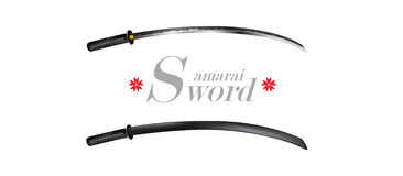 Samurai sword warrior design japanese culture concept on white background Royalty Free Stock Photo