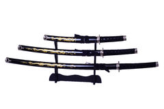 Samurai Swords Isolated Stock Photos
