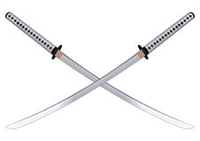 Samurai swords. Vector illustration.  Stock Images