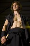 Samurai swordsman Stock Images