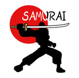 Samurai symbol Royalty Free Stock Photography