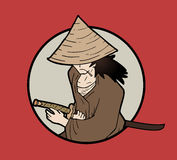 Samurai symbol Royalty Free Stock Image