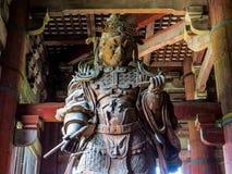 Samurai in Tōdai-ji Temple, Nara Stock Photography