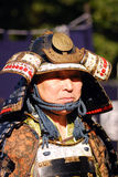 Samurai, Tokyo, Japan. A Japanese man is wearing an ancient samurai clothes in Meiji Shrine, Tokyo. A Festival was held on 3. November, 2009, on the birthday of Stock Images