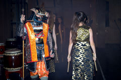 Samurai und Geisha Lizenzfreie Stockfotografie