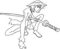 Samurai vector Royalty Free Stock Photography