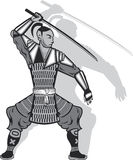 Samurai vector Royalty Free Stock Images