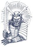 Samurai warrior Royalty Free Stock Photography