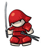 Samurai Warrior Cute Royalty Free Stock Photo