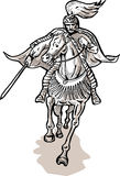 Samurai warrior on horse Royalty Free Stock Images