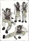 Samurai warrior illustration Stock Images