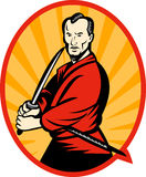 Samurai warrior with katana Royalty Free Stock Photography