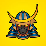 Samurai warrior mask stock illustration