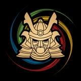 Samurai warrior mask Royalty Free Stock Image
