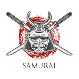Samurai Warrior Mask Stock Image