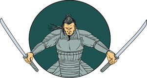 Samurai Sword Vector Drawing Illustration 3244701 - Megapixl