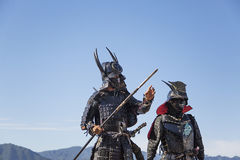 Samurai warriors Royalty Free Stock Image