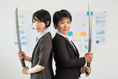 Samurai workers Stock Photo