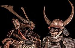 Samuraihuvuddelarmor royaltyfria foton