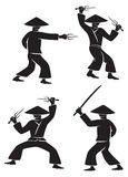 Samuraiklinge Stockfotos