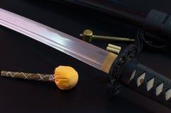 Samuraiklinge Stockfoto