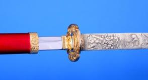 Samuraiklinge getrennt Stockbild