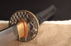 Samuraiklinge katana lizenzfreies stockbild