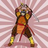 Samuraikriegerschlagen lizenzfreie abbildung