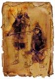 samurais ilustración del vector