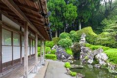 Samurais bringen unter und arbeiten in Chiran im Garten Lizenzfreie Stockbilder